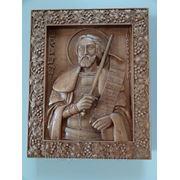 Икона резная-Святой Александр Невский фото