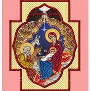 """Икона в кресте """"Рождетво Христово""""- дизайн для машинной вышивки фото"""