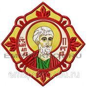Икона Св. Апостол Петр-дизайн для машинной вышивки фото