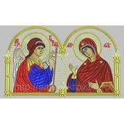 Икона Благовещение Пресвятой Богородицы - дизайн для машинной вышивки фото