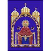 Икона 8 Покров Пресвятой Богородицы- дизайн для машинной вышивки фото