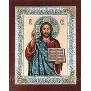 Икона Спаситель 108х128(мм) фото