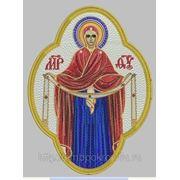 """Икона""""Покров Пресвятой Богородицы""""- дизайн для машинной вышивки фото"""
