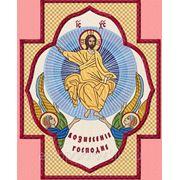 """Икона в кресте """"Вознесение Господа""""- дизайн для машинной вышивки фото"""