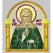 Икона Св.Блаженной Матроны Московской- дизайн для машинной вышивки фото