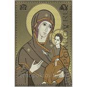 Икона Божьей Матери Иверская - дизайн для машинной вышивки фото