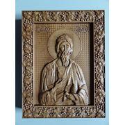 Икона резная-Святой Апостол Андрей фото