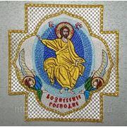 """Крест-икона вышитая """"Вознесение Господне"""" для фелони фото"""