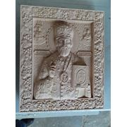 Икона резная-Святой Николай Чудотворец фото