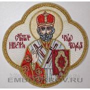 Икона Святителя Николая Чудотворца вышитая фото