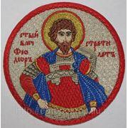Икона вышитая СМ Феодора Стратилата - для фелони фото