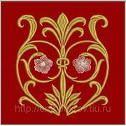 Церковная вышивка. Подризник 02-дизайн для машинной вышивки фото