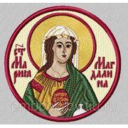 Икона Мария Магдалина - дизайн для машинной вышивки фото