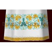 Церковная вышивка. Подризник 13-дизайн для машинной вышивки фото