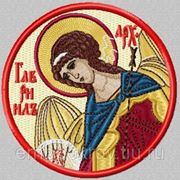 Икона Архангела Гавриила - дизайн для машинной вышивки фото