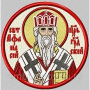 Икона Афанасия Цареградского - дизайн для машинной вышивки фото