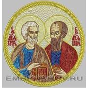 """Икона""""Апостолы Петр и Павел""""- дизайн для машинной вышивки фото"""