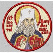 Икона СВ Иннокентий митрополит Московский- дизайн для машинной вышивки фото