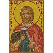 Икона Св.Блг. Александр Невский - дизайн для машинной вышивки фото