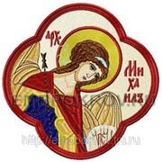 Икона в кресте Архангел Михаил - дизайн для машинной вышивки фото