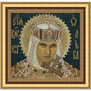 Икона 10 Равноапостольной Ольги - дизайн для машинной вышивки фото