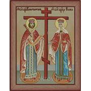 Икона Равноапостольных царя Константина и Елены - дизайн для машинной вышивки фото