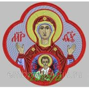 Икона в кресте Знамение Божией Матери - дизайн для машинной вышивки фото