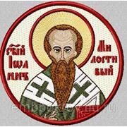 Икона СВ Иоанн Милостивый - дизайн для машинной вышивки фото
