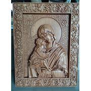 Икона резная Богоматерь Донская фото