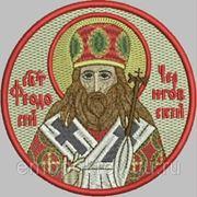 Икона СВ Феодосий Черниговский - дизайн для машинной вышивки фото