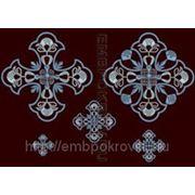 Набор крестов 06 -дизайн для машинной вышивки фото