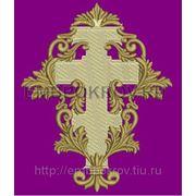 Крест 34 -дизайн для машинной вышивки фото