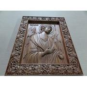 Резная икона Святой Архангел Михаил фото