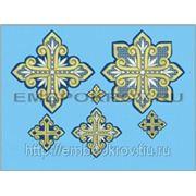 Набор крестов 13 -дизайн для машинной вышивки фото