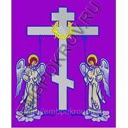 Крест 25 Голгофа с ангелами -дизайн для машинной вышивки фото