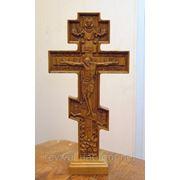 Крест Резной №1 На подставке фото