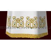 Церковная вышивка. Подризник 07-дизайн для машинной вышивки фото