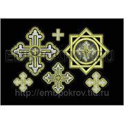 Набор крестов 16 -дизайн для машинной вышивки фото