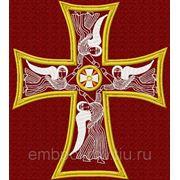 Крест на катапетазму -дизайн для машинной вышивки фото