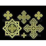 Набор крестов 14 -дизайн для машинной вышивки фото