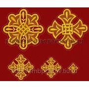 Набор крестов 25 -дизайн для машинной вышивки фото