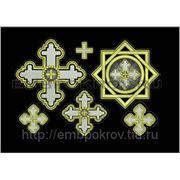 Набор крестов 15 -дизайн для машинной вышивки фото