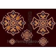 Набор крестов 05 -дизайн для машинной вышивки фото