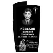 Памятник габбро черный 1100*600*70 фото