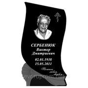 Памятник габбро черный 1000*600*70 фото