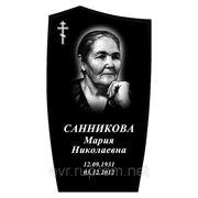 Памятник габбро черный 800*450*50 эконом фото