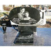 Памятники на могилу на два портрета