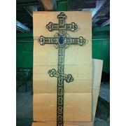 Кованый ритуальный крест 1 фото