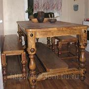 Стол, две скамейки. фото