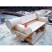 Мебель из бревна фото